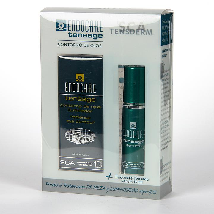 Farmacia Jiménez | Endocare Tensage Contorno de ojos iluminador 15 ml + Serum 15 ml Gratis Pack