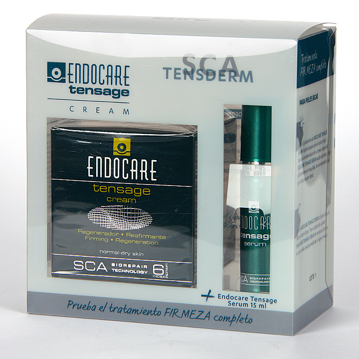 Farmacia Jiménez | Endocare Tensage Crema 50 ml + Endocare Tensage Serum 15 ml Gratis Pack