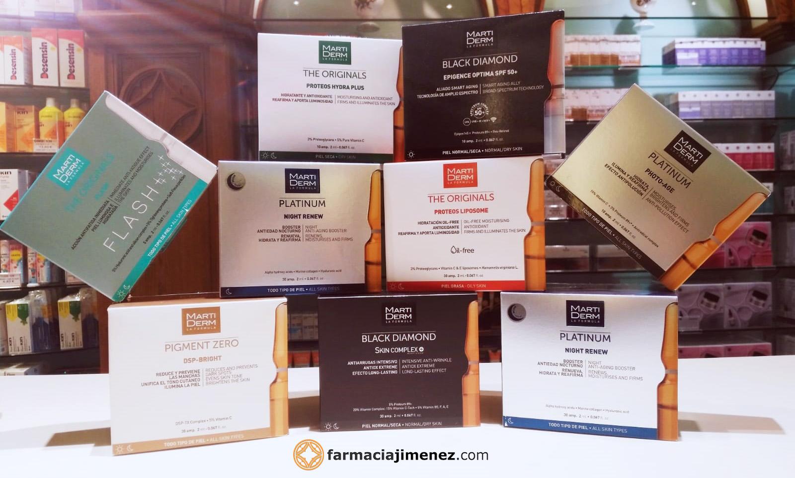 Farmacia Jimenez | Ampollas Martiderm, te las enseñamos todas - ¿Cuál es la mejor para tu piel?