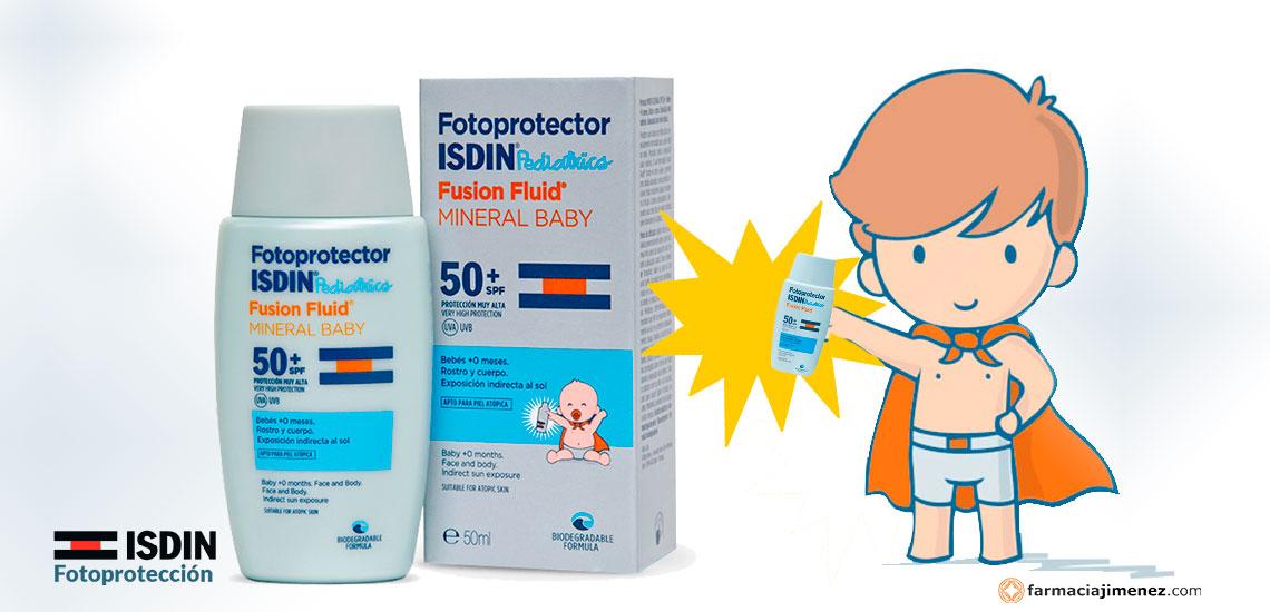 Farmacia Jiménez | Isdin pediátrico Fusion fluid Mineral Baby, para el bebé