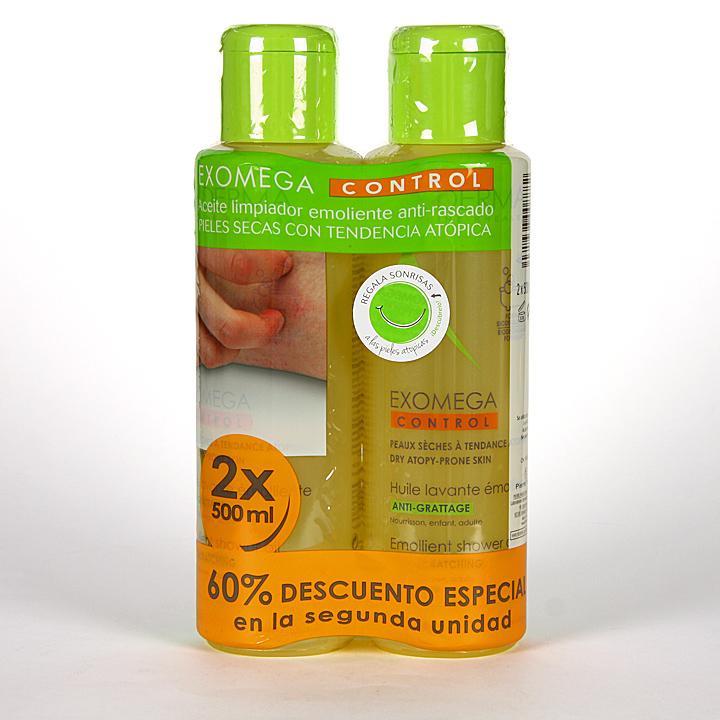 Farmacia Jiménez | A-Derma Exomega Duplo Aceite de ducha y baño Pack 2 unidades