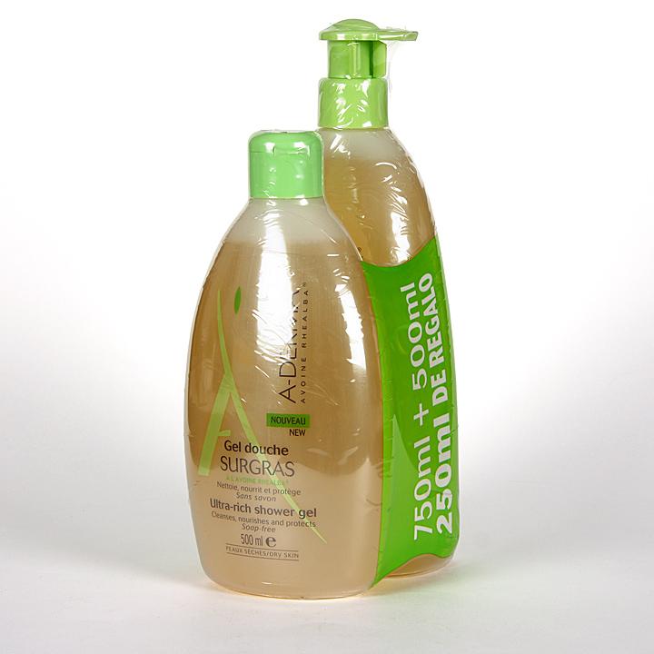 Farmacia Jiménez | A-Derma Gel de ducha sobregraso 750 + 500 ml Pack Promoción