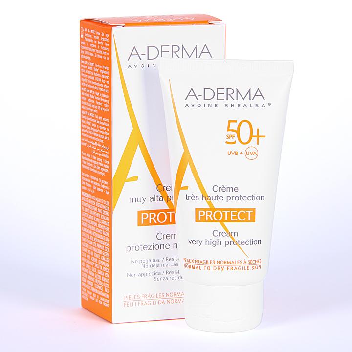 Farmacia Jiménez | A-Derma Protect Crema Solar SPF 50+ 40 ml