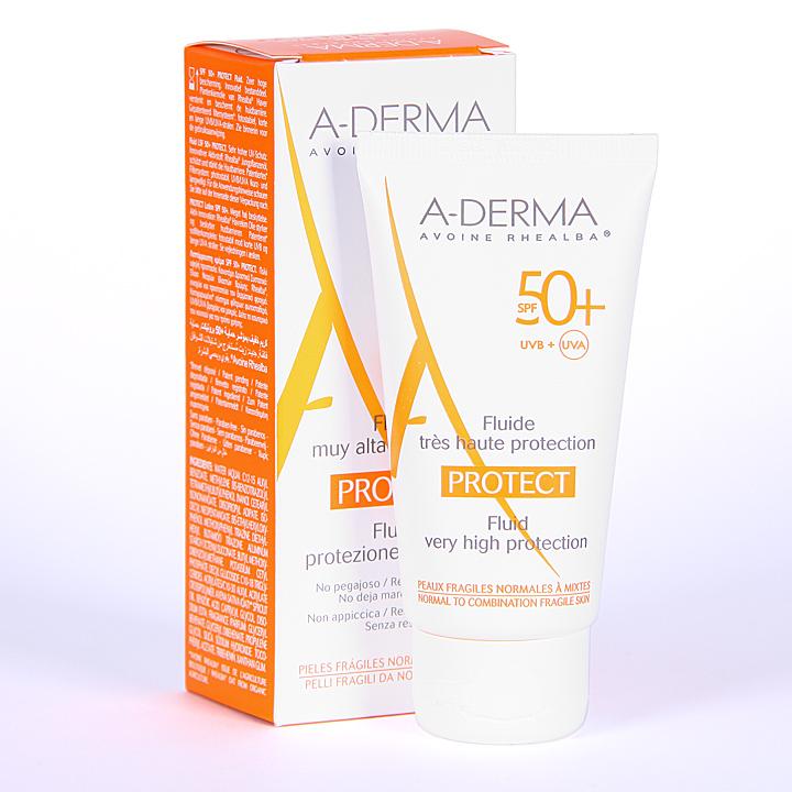 Farmacia Jiménez | A-Derma Protect Fluido Solar SPF 50+ 40 ml