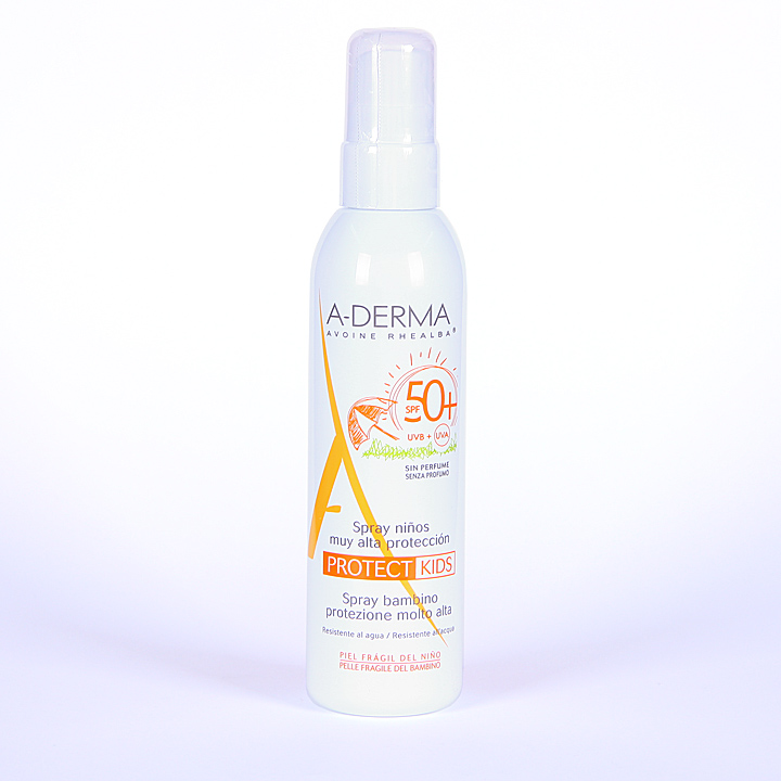 Farmacia Jiménez | A-Derma Protect Kids Spray Solar Niños SPF 50+ 200 ml