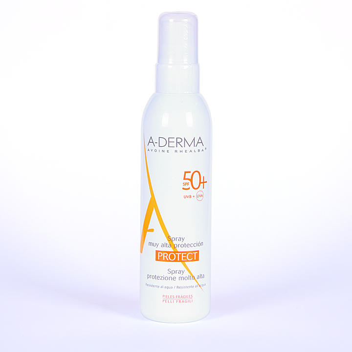 Farmacia Jiménez | A-Derma Protect Spray Solar SPF 50+ 200 ml