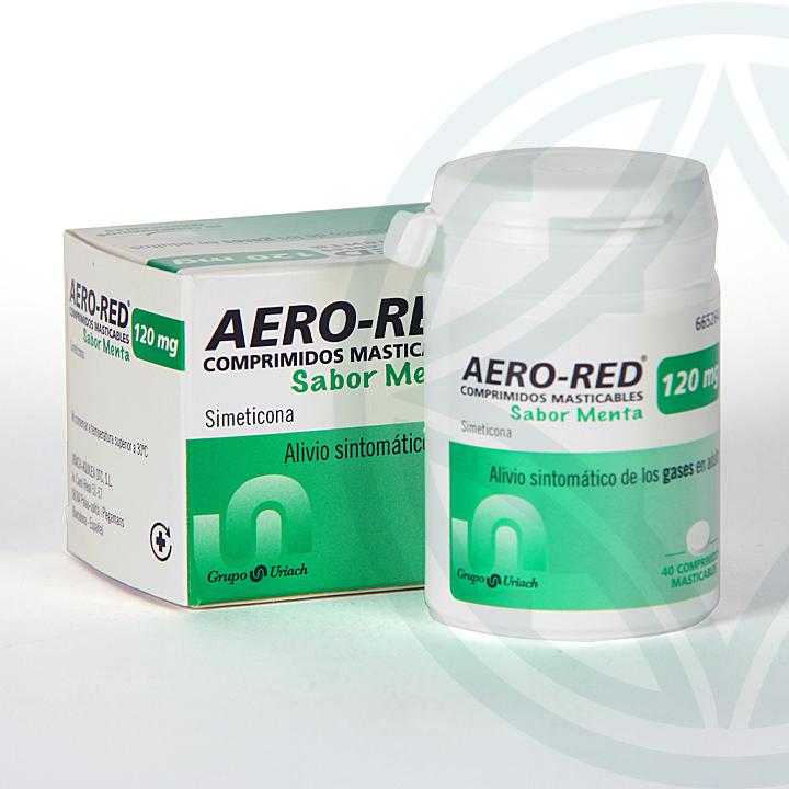 Farmacia Jiménez | Aero Red 120 mg 40 comprimidos masticables Menta