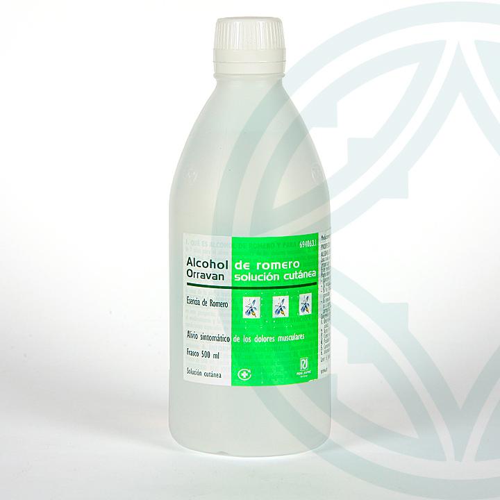 Farmacia Jiménez   Alcohol de romero orravan 50 mg/ml solución tópica 500 ml