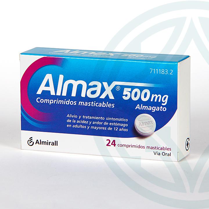 Farmacia Jiménez | Almax 500 mg 24 comprimidos masticables