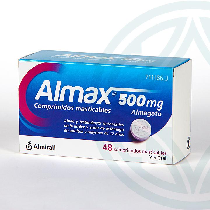 Farmacia Jiménez | Almax 500 mg 48 comprimidos masticables