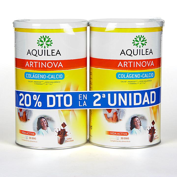 Farmacia Jiménez | Aquilea Artinova Colágeno + Calcio sabor chocolate Pack Duplo