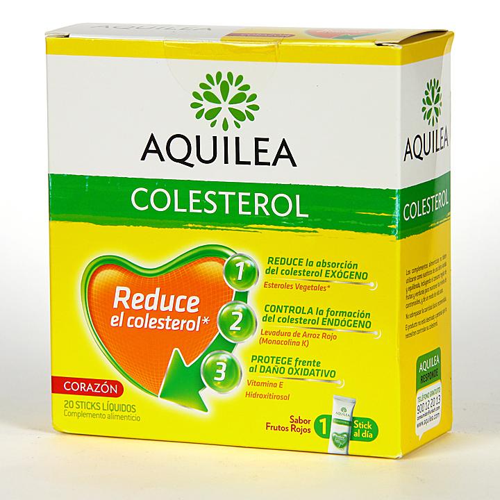 Farmacia Jiménez | Aquilea Colesterol 20 Stick Líquidos Sabor frutos rojos