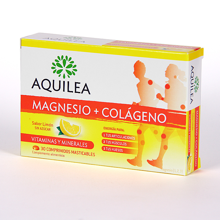 Farmacia Jiménez | Aquilea Magnesio + Colágeno 30 comprimidos masticables