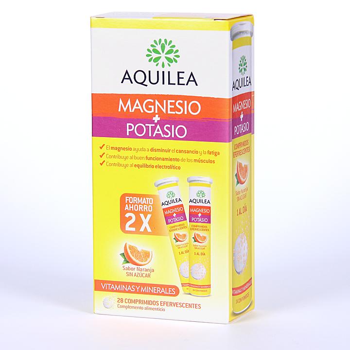 Farmacia Jiménez | Aquilea Magnesio + Potasio 28 comprimidos efervescentes Pack