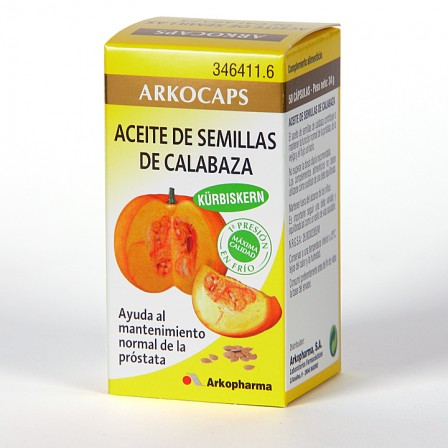 Farmacia Jiménez | Arkocapsulas Aceite de Semillas de Calabaza 50 cápsulas