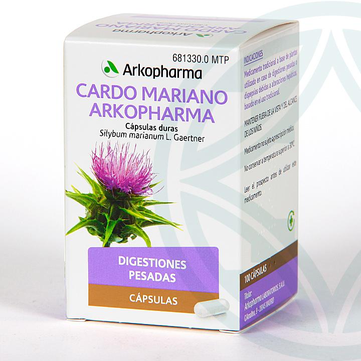 Farmacia Jiménez | Arkopharma Cardo Mariano 100 cápsulas