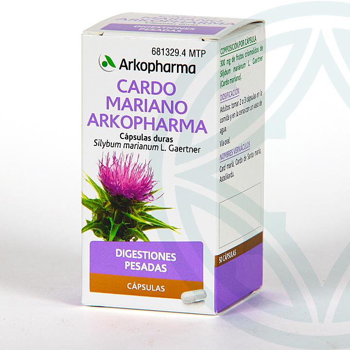 Farmacia Jiménez | Arkopharma Cardo Mariano 50 cápsulas