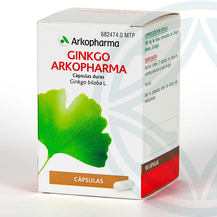 Farmacia Jiménez | Arkopharma Ginkgo Biloba 100 cápsulas