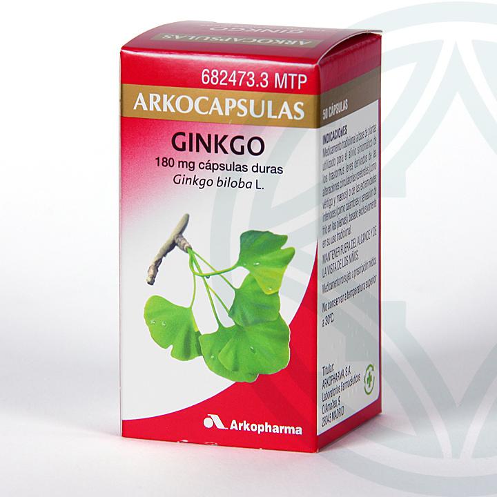 Farmacia Jiménez | Arkocapsulas Ginkgo Biloba 50 cápsulas