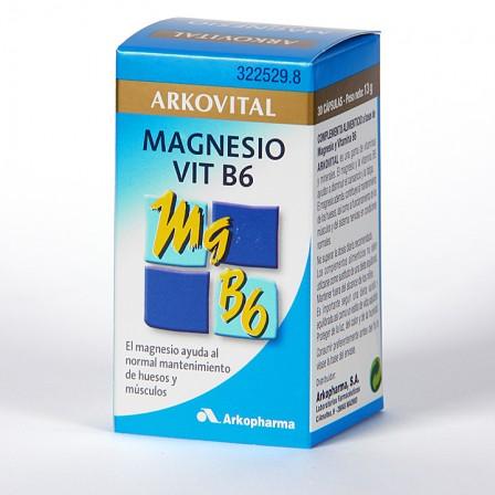 Farmacia Jiménez | Arkocapsulas Arkovital Magnesio + Vitamina B6 30 cápsulas