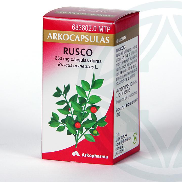 Farmacia Jiménez | Arkocapsulas Rusco 48 cápsulas