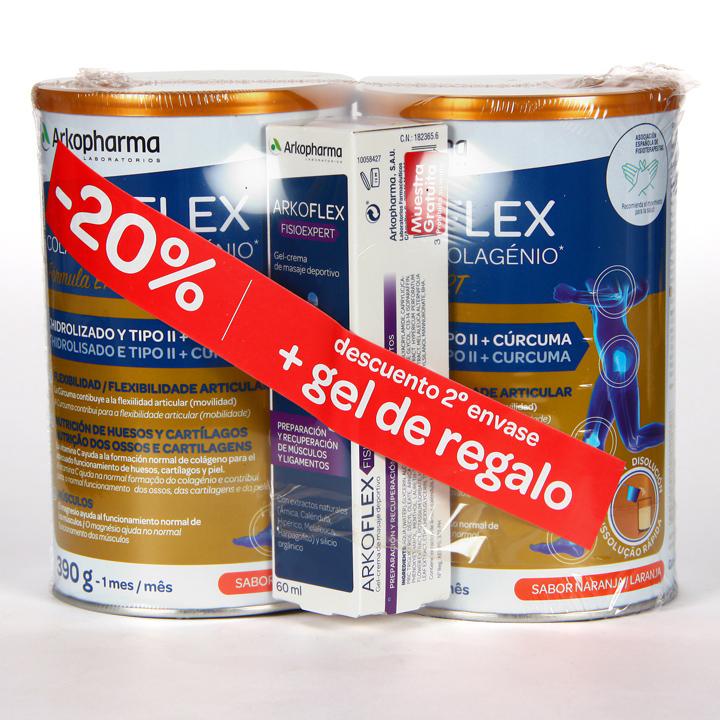 Farmacia Jiménez   Arkopharma Arkoflex Colágeno Expert Pack Duplo + Arkoflex Gel Regalo