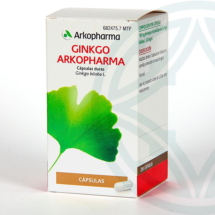 Farmacia Jiménez | Arkopharma Ginkgo Biloba 200 cápsulas