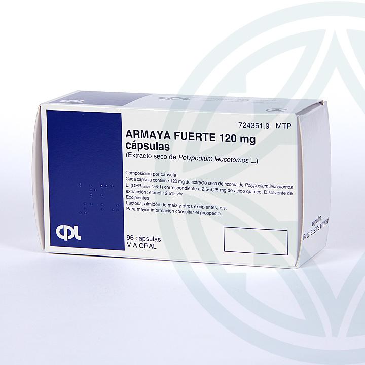 Farmacia Jiménez | Armaya Fuerte 120 mg 96 cápsulas