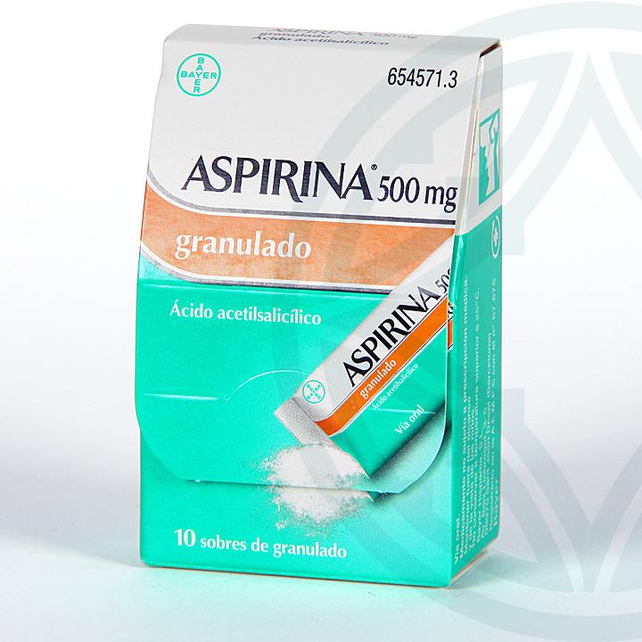 Farmacia Jiménez | Aspirina 500 mg 10 sobres granulado
