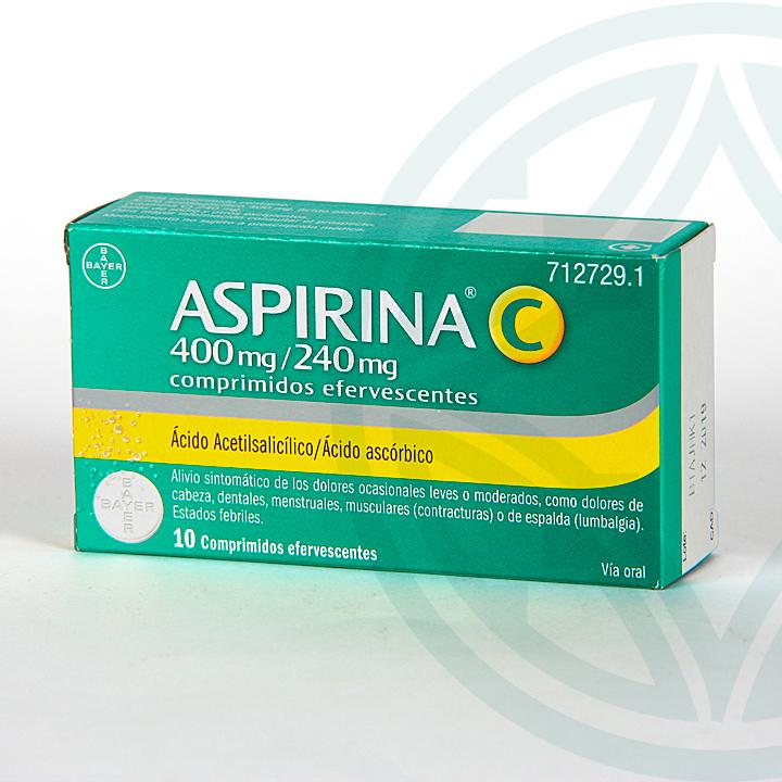 Farmacia Jiménez | Aspirina C 10 comprimidos efervescentes