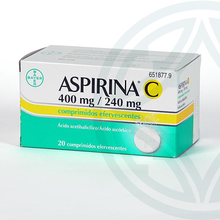 Farmacia Jiménez | Aspirina C 20 comprimidos efervescentes