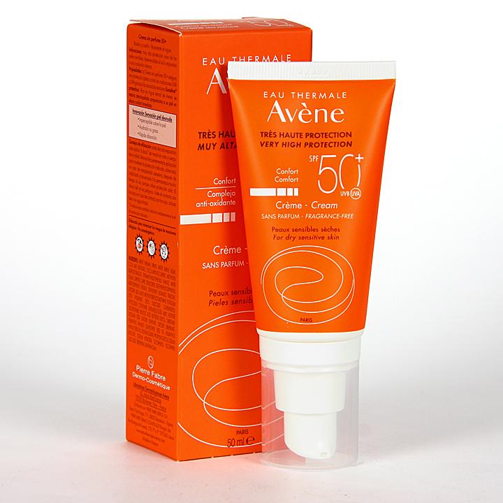 Farmacia Jiménez | Avene Solar Crema sin perfume SPF50+ 50 ml
