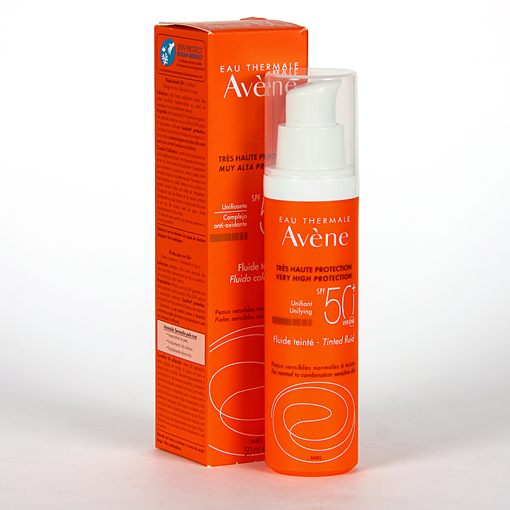Farmacia Jiménez | Avene Solar Fluido Coloreado oil-free SPF 50+ 50 ml