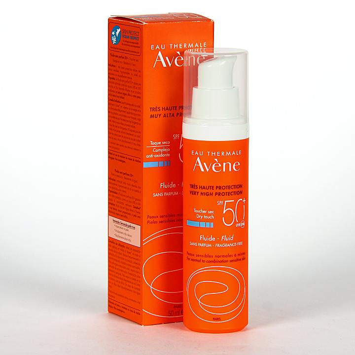 Farmacia Jiménez | Avene Solar Fluido Sin perfume SPF 50+ 50ml