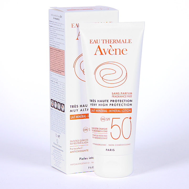 Farmacia Jiménez | Avene Solar Leche Mineral Pantallas Físicas SPF 50+ 100 ml