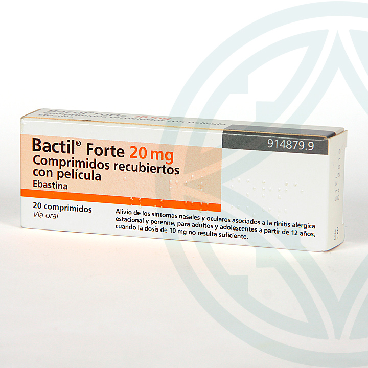 Farmacia Jiménez | Bactil Forte 20 mg 20 comprimidos recubiertos