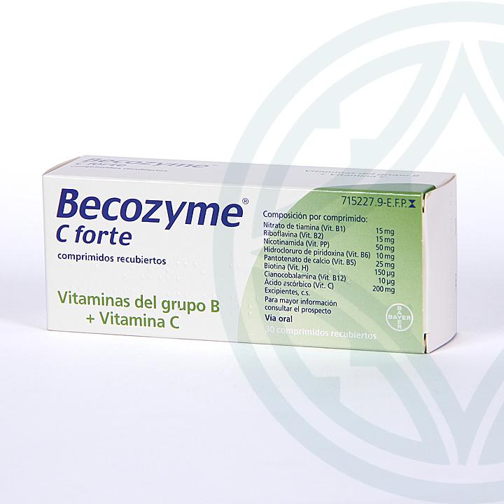 Farmacia Jiménez | Becozyme C Forte 30 comprimidos recubiertos