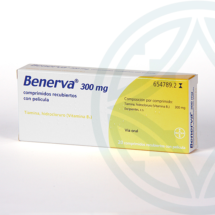 Farmacia Jiménez | Benerva 300 mg 20 comprimidos