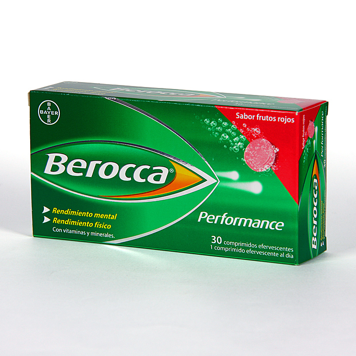 Farmacia Jiménez | Berocca Performance 30 comprimidos efervescentes sabor frutos rojos