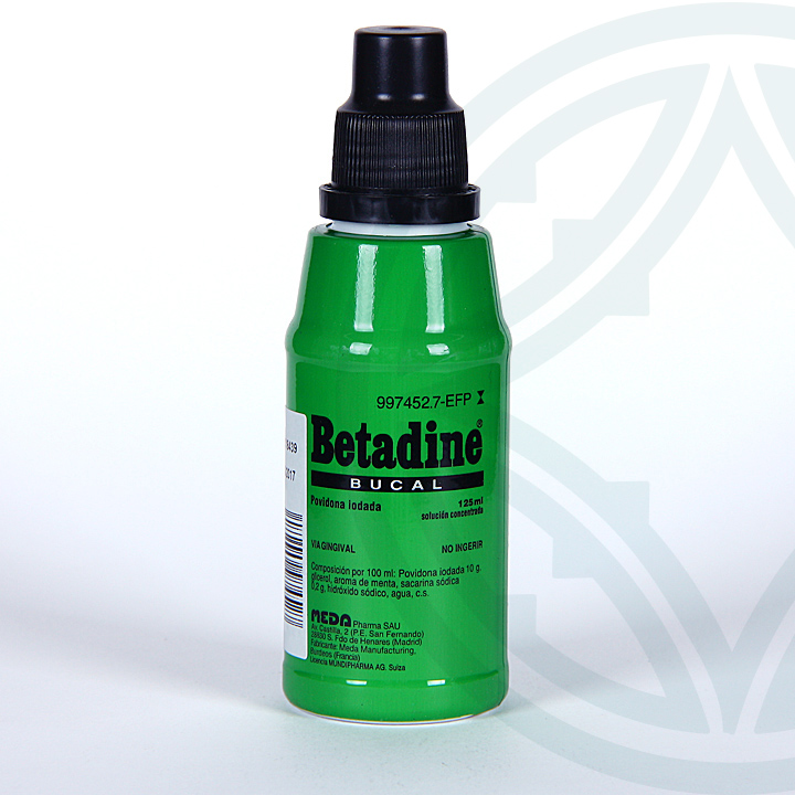 Farmacia Jiménez | Betadine Bucal solución tópica 125 ml