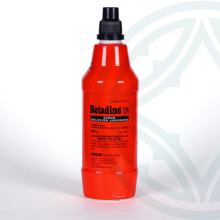 Farmacia Jiménez | Betadine scrub solución jabonosa 500 ml