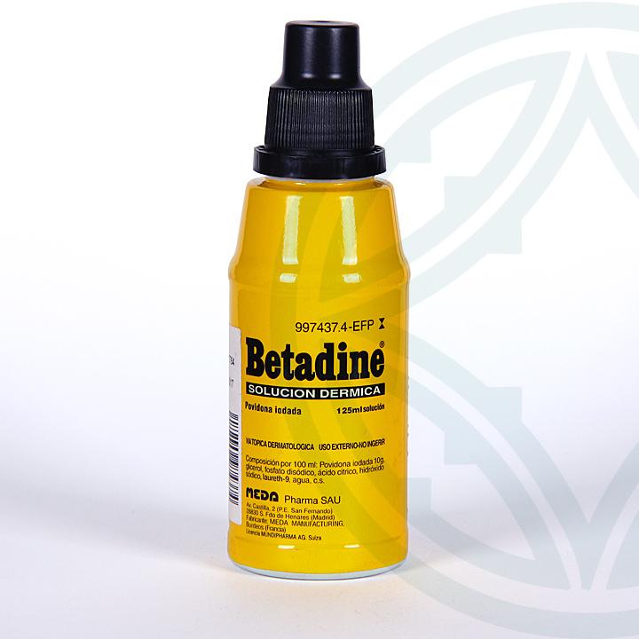 Farmacia Jiménez | Betadine solución cutánea 125 ml