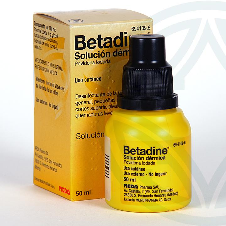 Farmacia Jiménez | Betadine Solución cutánea 50 ml
