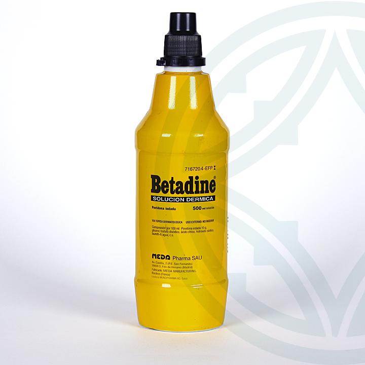 Farmacia Jiménez | Betadine solución dérmica 500 ml