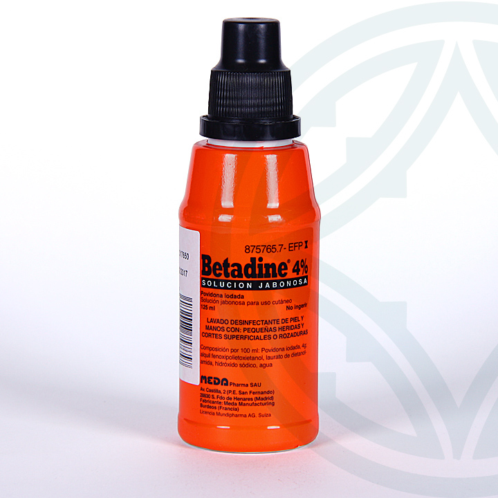 Farmacia Jiménez | Betadine solución tópica jabonosa 125 ml