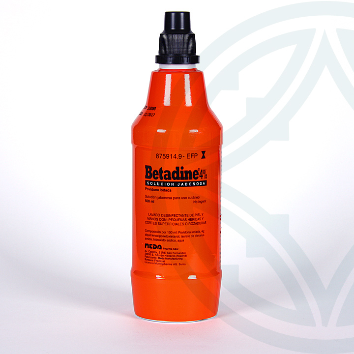 Farmacia Jiménez | Betadine solución tópica jabonosa 500 ml
