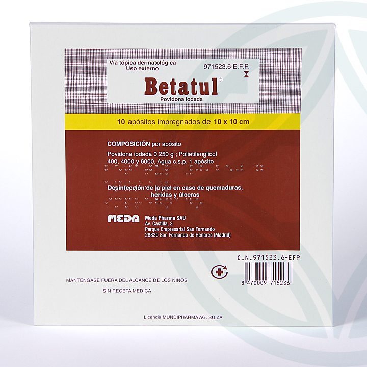 Farmacia Jiménez | Betatul 250 mg 10 apósitos