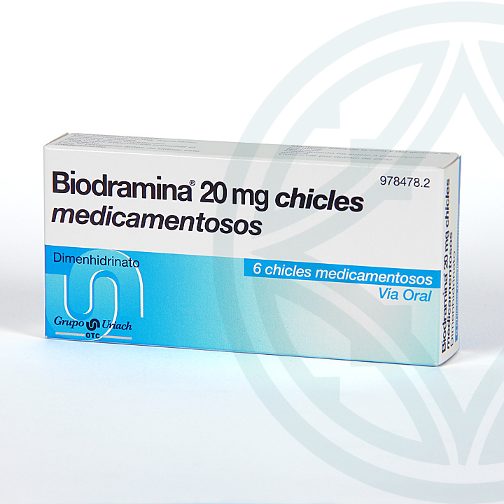 Farmacia Jiménez | Biodramina 20 mg 6 chicles