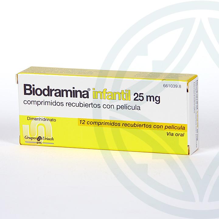 Farmacia Jiménez | Biodramina Infantil 25 mg 12 comprimidos