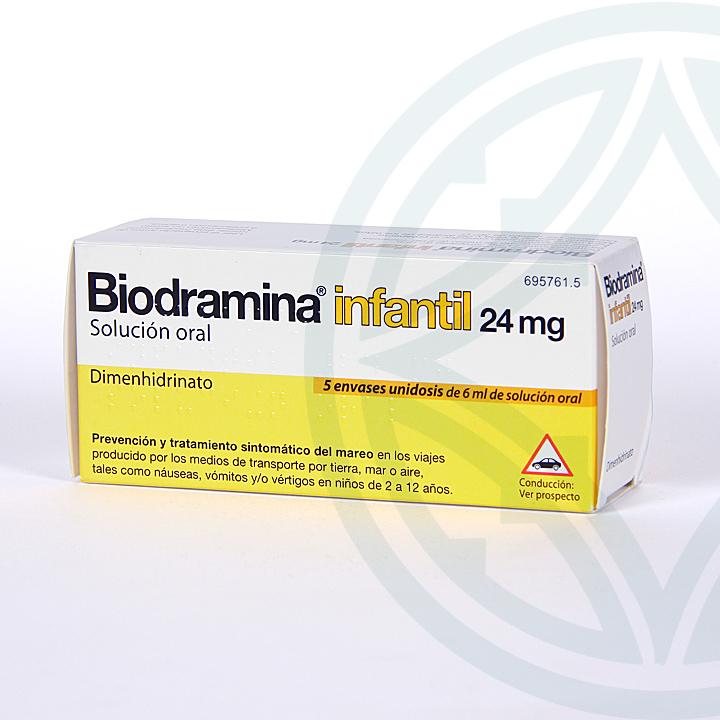 Farmacia Jiménez | Biodramina Infantil solución oral 5 monodosis